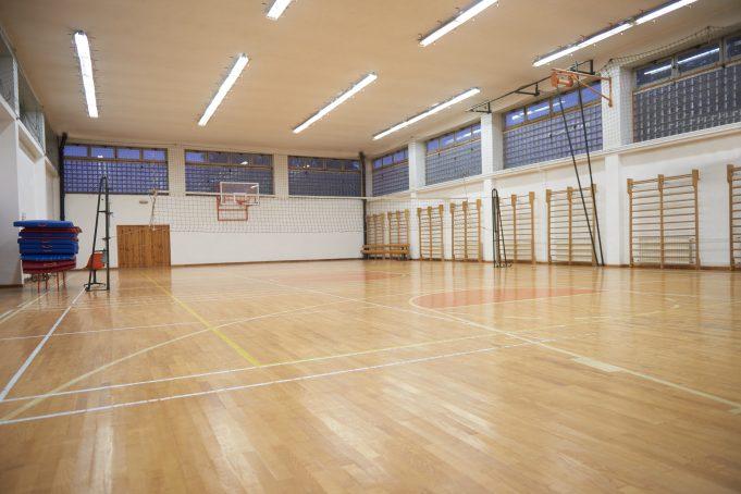 Tom gympa/träningssal
